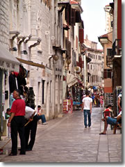 Dekumanska, the ancient main street of Porec.
