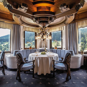 The 3-Michelin-starred Schwarzwaldstube Restaurant in Baiersbronn