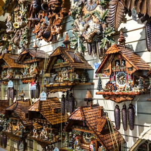 Black Forest cuckoo clocks in the Ravennaschluct