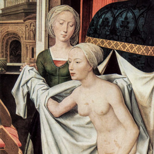 Bathsheba at the Bath by Hans Memling in The Staatsgalerie of Stuttgart