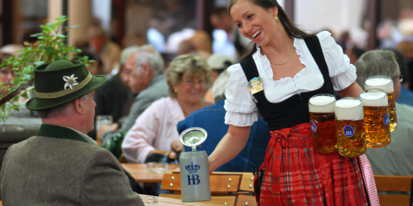 A bier keller in Munich