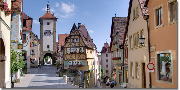 Plönlein, Rothenburg ob der Tauber, Germany