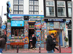A branch of The Bulldog, a chain of smoking cafes in Amsterdam