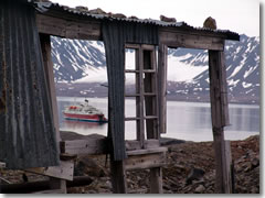 Shore excursions include visits to vanished whaling stations, weathered trapper's huts, and abandoned mining operations, a glimpse into the history and economy of one of humanity's most distant outposts.