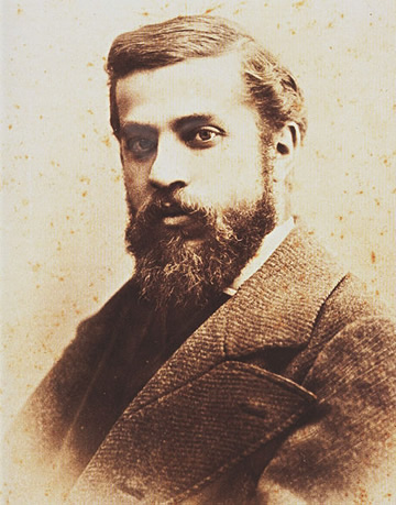 A photograph of Antoni Gaudí from 1878