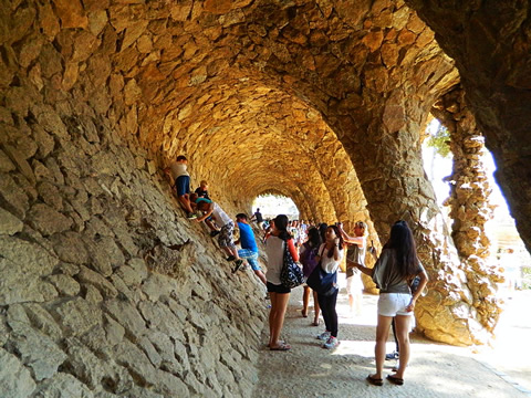 The main staircase at Park Güell, Barcelona.