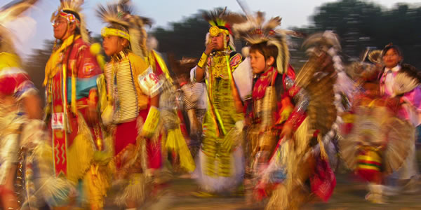 Sioux ancers at the 2006 Oglala Lakota Natioan Gathering, Pine Ridge, South Dakota