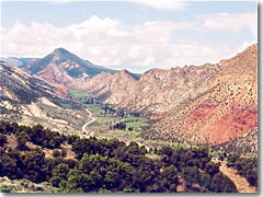 A breathtaking view is captured looking west from a pullout along the Flaming Gorge - Uintas Scenic Byway in Utah.