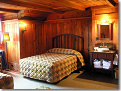One of the original rooms at the Old Faithful Inn in Yellowstone National Park.