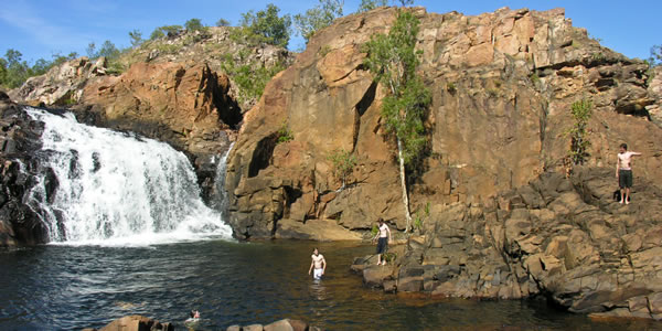 A swimming hole along the Jaubula Trail in Nitmiluk National Park, Australia