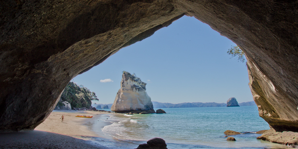 Cathedral Cove on the Coromandel Peninsula of New Zealand