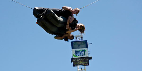 The Swoop bungy ride at Agroventures, near Rotorua, New Zealand