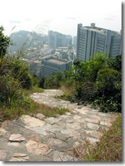 High above the skyscrapers on the Hong Kong Trail