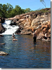 The swimming hole above 17 Miles Falls on Australia's Jatbula Trail.