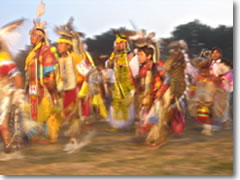 The Grand Entry dance at the 2006 Oglala Lakota Nation Gathering on the Pine Ridge Indian Reservation, South Dakota