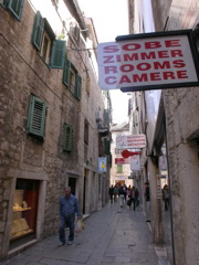 "You don't need to know that ""sobe"" is Croatian for ""room"" because signs like this one in Split, Croatia are usually in a variety of tongues"