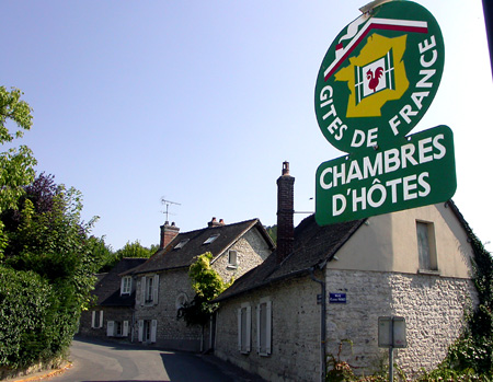 Cottages to rent in France are called gites, and there are loads, like this picturesque spot on a side-street in Giverny.