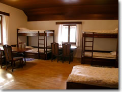 Some hostels, like this one above Lake Bled in Slovenia, can be quite cozy and comfy. Big city hostels rarely look this good.