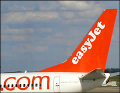 An easyJet plane, one of the most successful of Europe's no-frills airlines