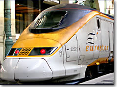The high-speed Eurostar train through the Channel Tunnel gets you from London to Paris or to Brussels in just 2:40